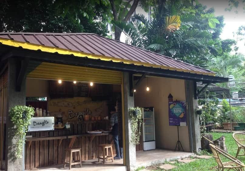 Kedai kopi Bangflo di kampus UNIKA Atma Jaya, Semanggi